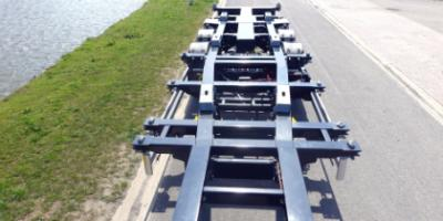 Bovenaanzicht multifunctioneel container chassis