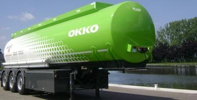 tanker with a round tank shape circle shaped conical
