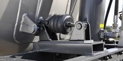 Hyfix clamping system LAG tipping silo trailer