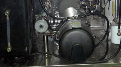 Webasto heating unit on a LAG tanker
